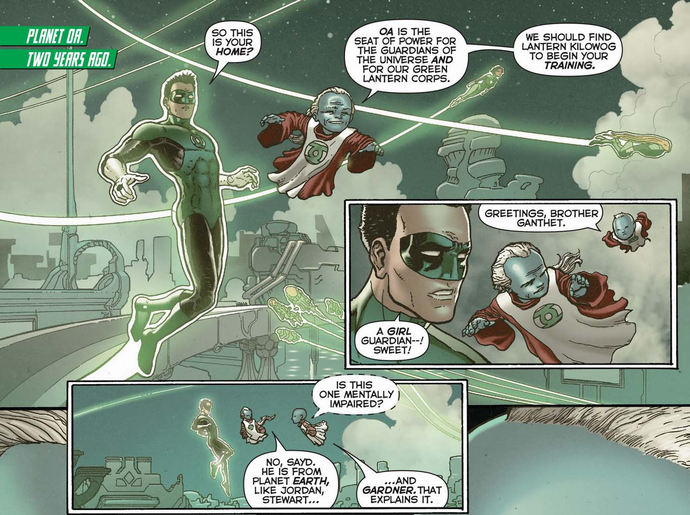Sayd's first impression of kyle rayner