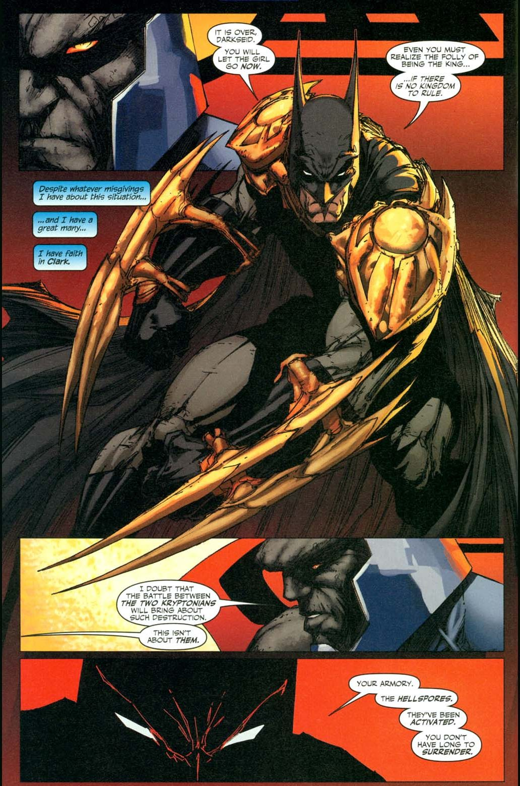 how batman earned darkseid's admiration