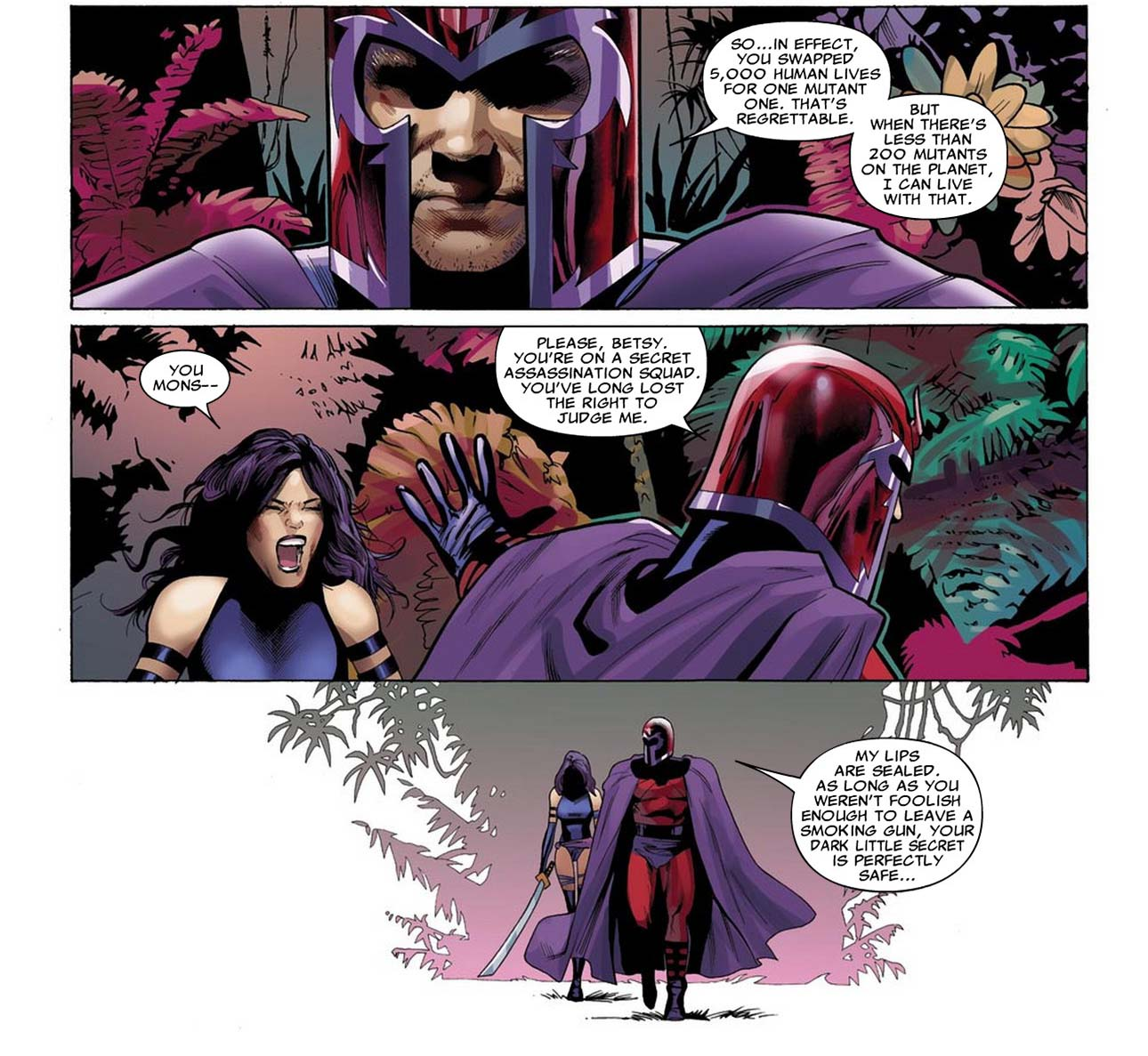 magneto burns psylocke