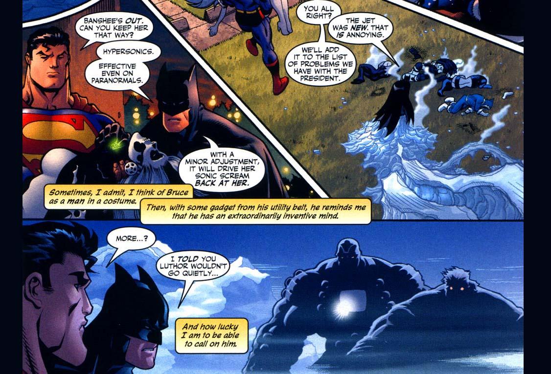superman's observation of batman