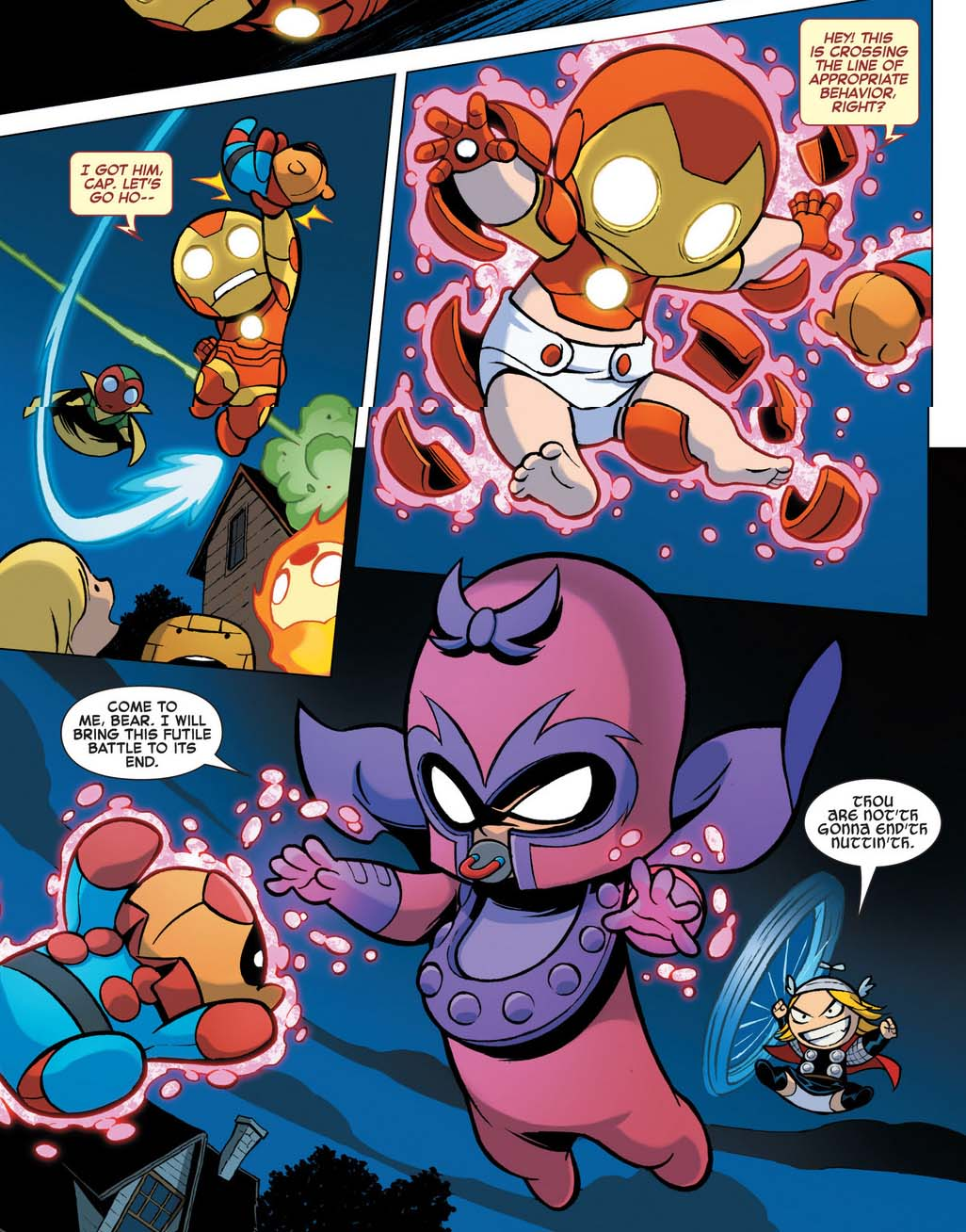 baby iron man vs baby magneto