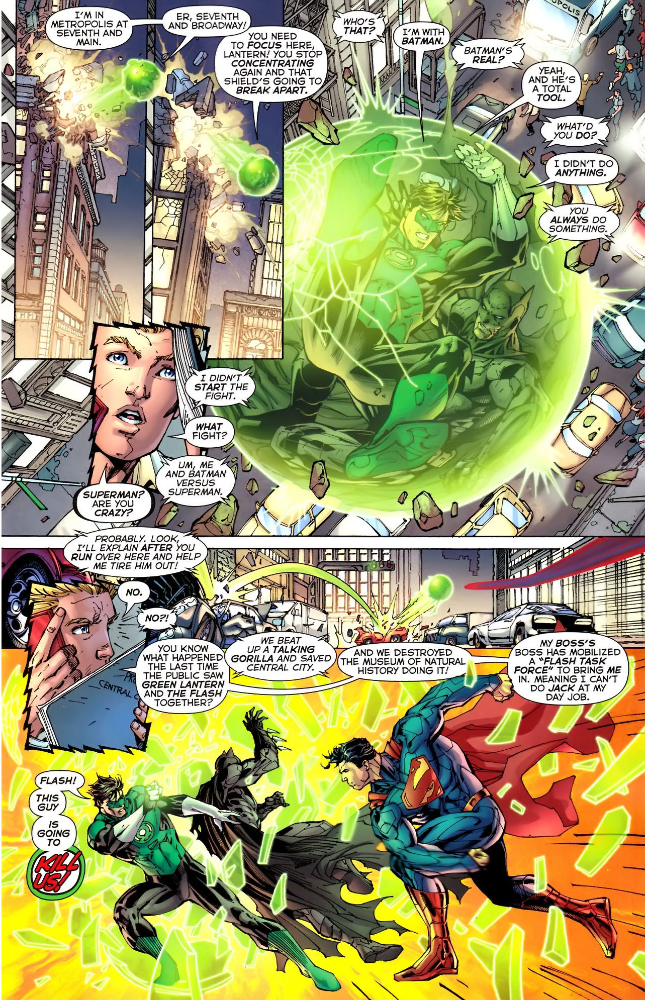 superman vs green lantern (new 52)