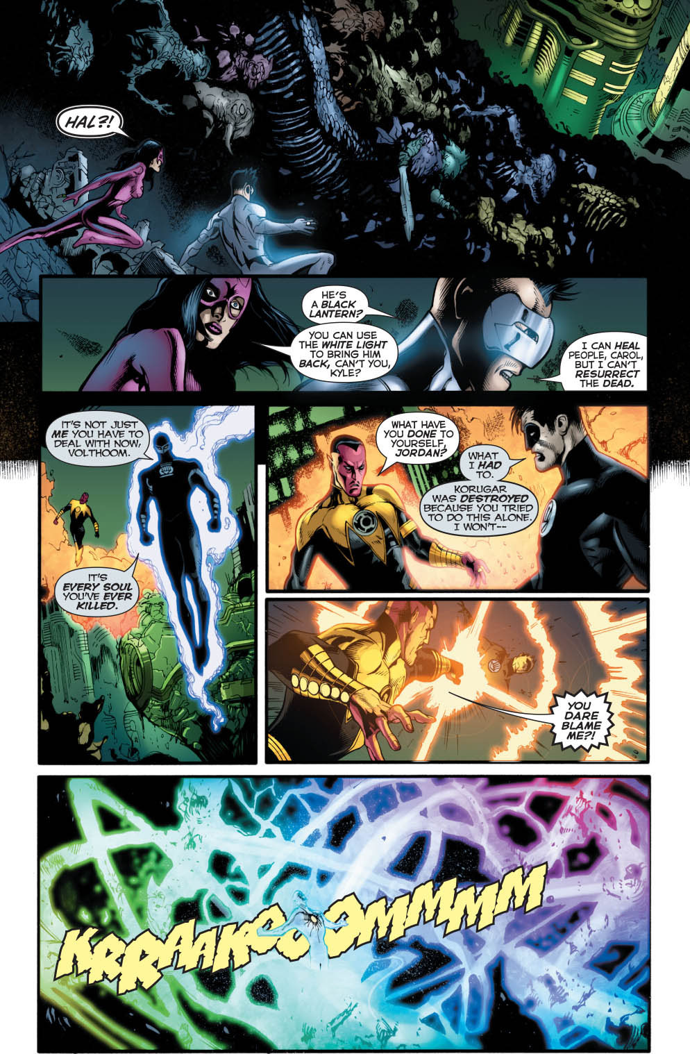 Hal Jordan As A Black Lantern