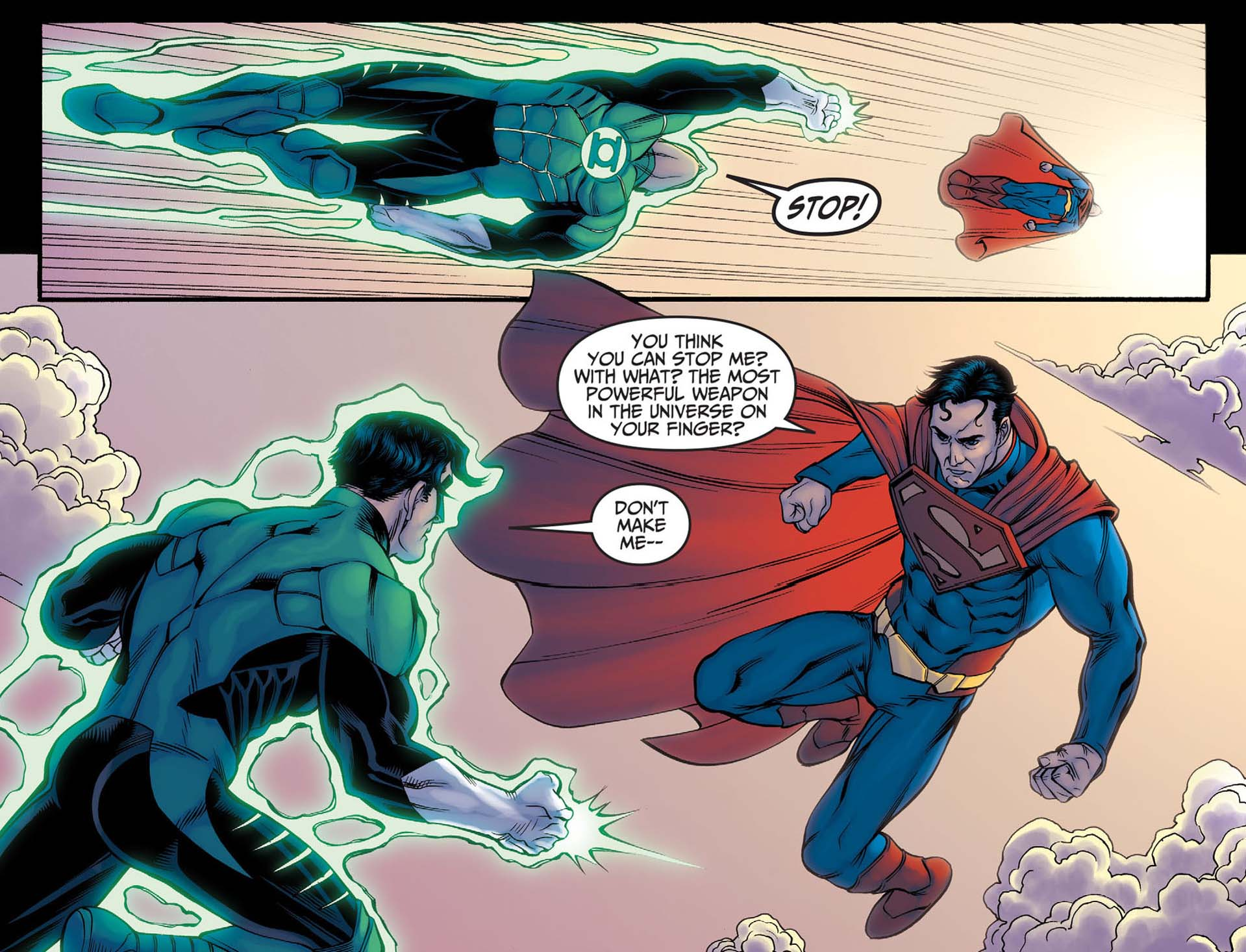 how superman beat green lantern