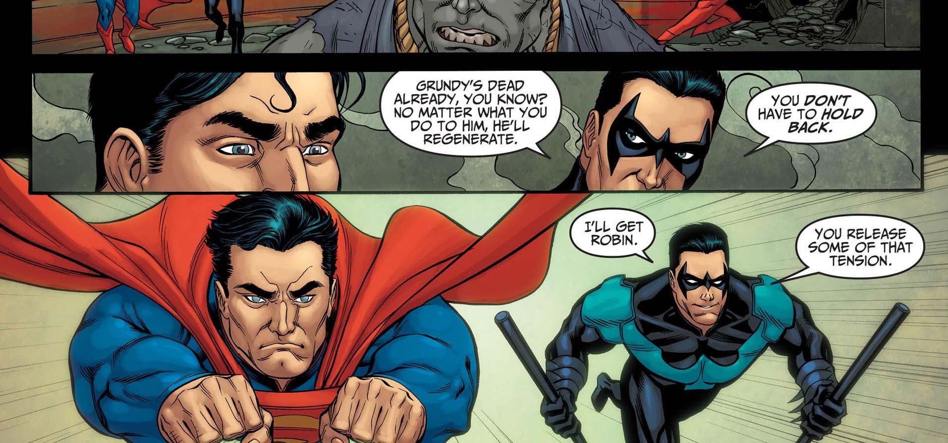 superman against undead