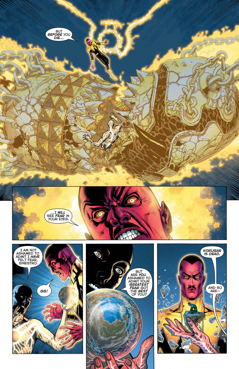 Sinestro VS Volthoom (Wrath Of The First Lantern)