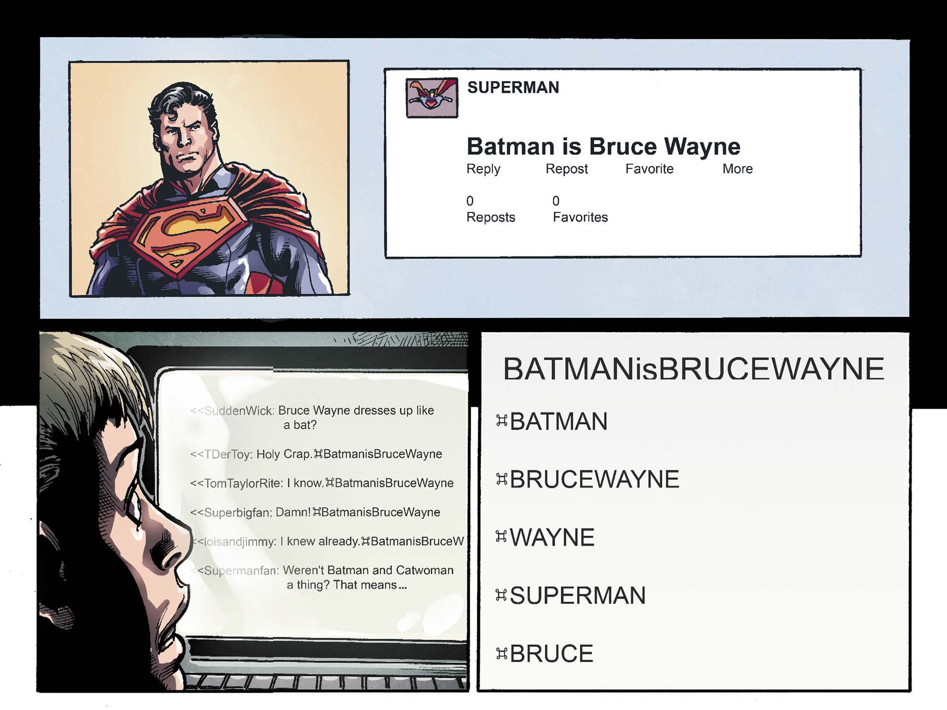 superman tweets