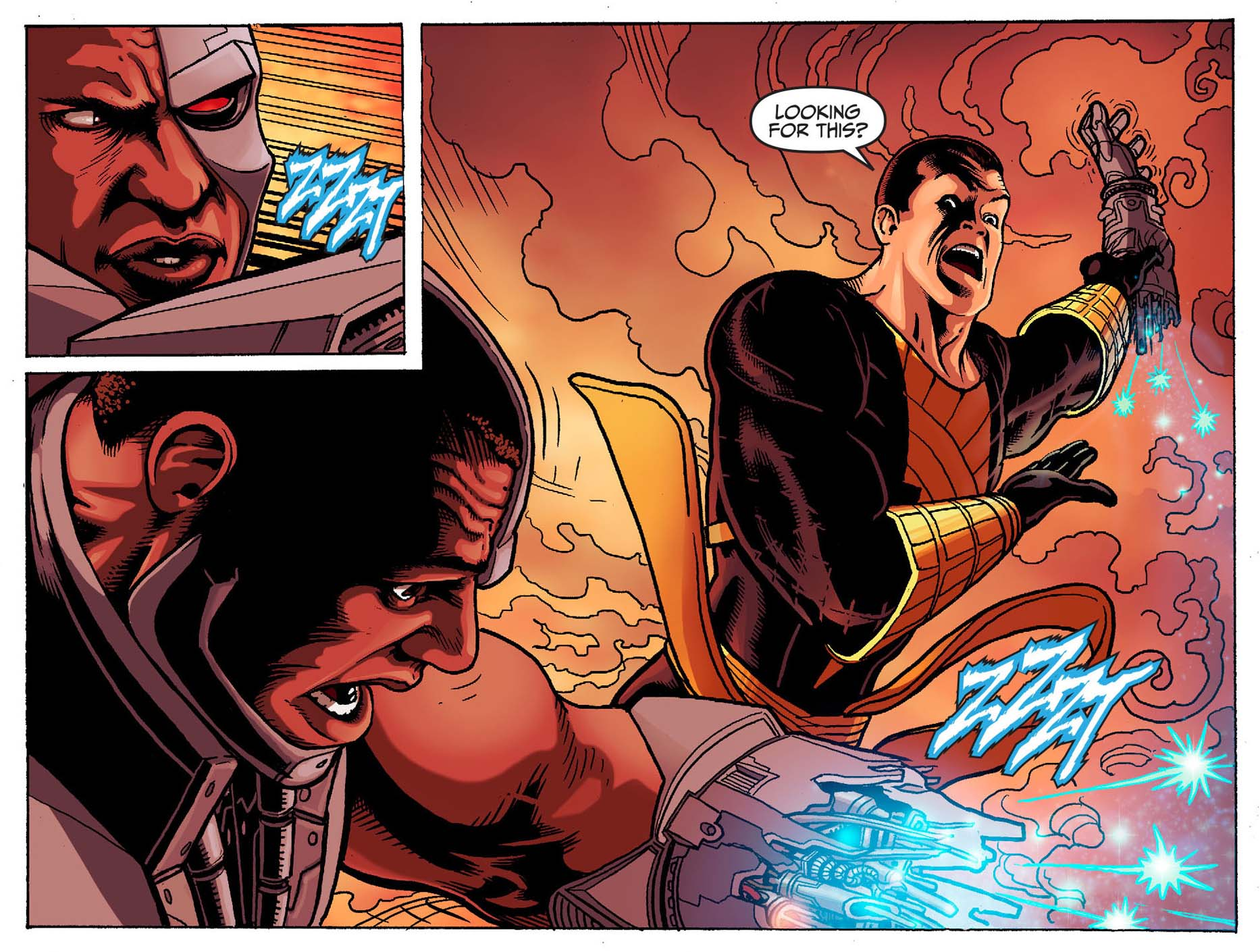 cyborg vs black adam 2