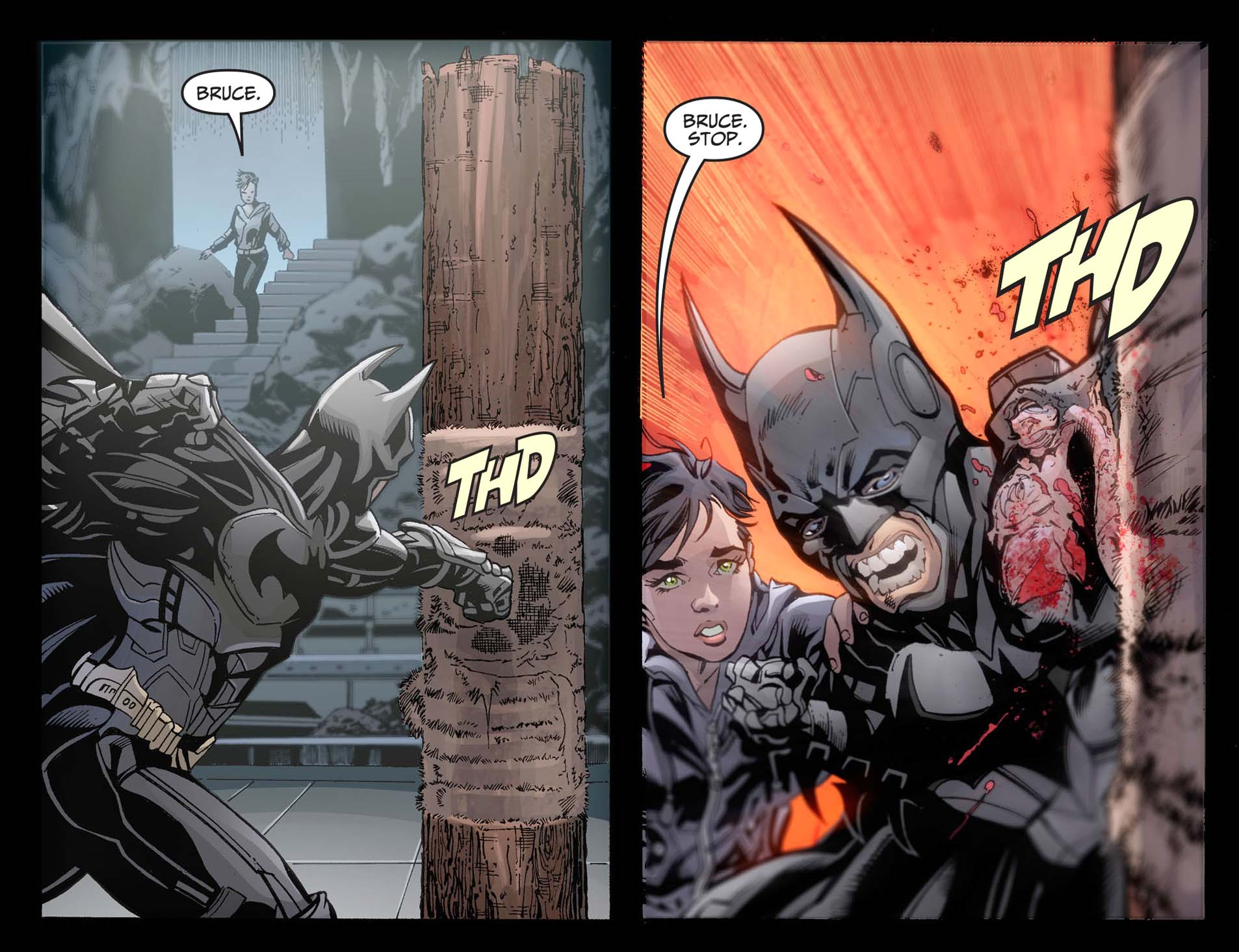 how batman mourned nightwing