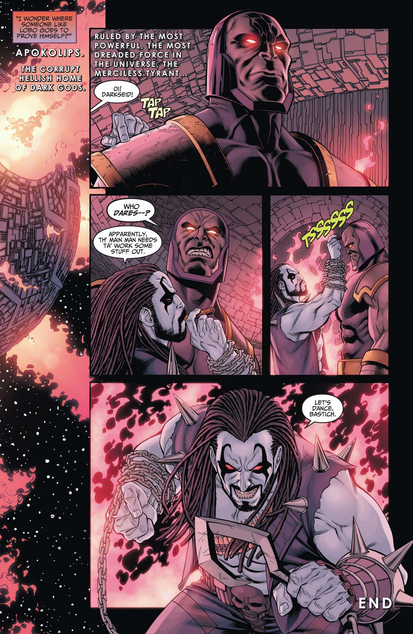 how to goad darkseid to a fight