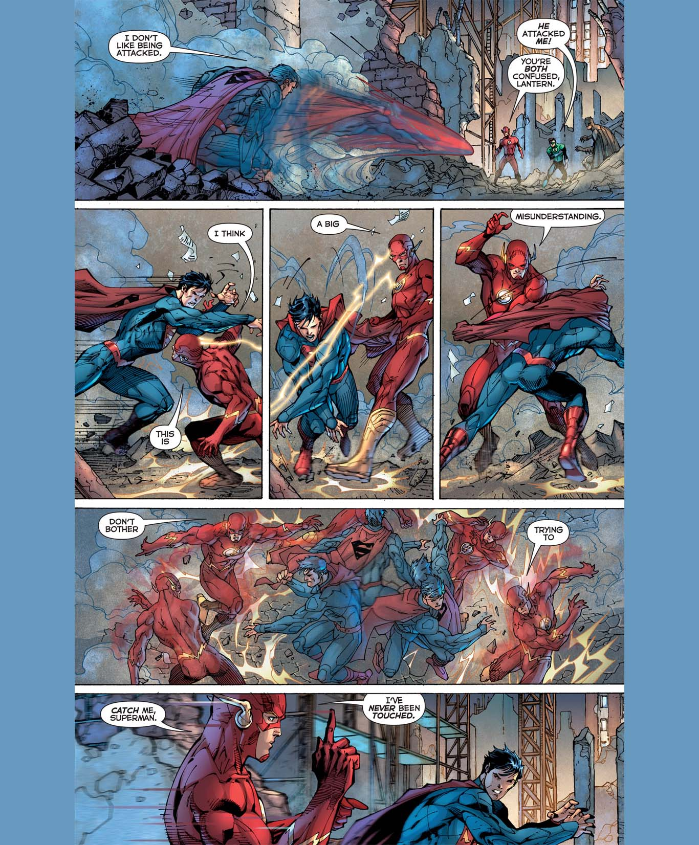 Superman and The Flash's First Meeting (new 52)