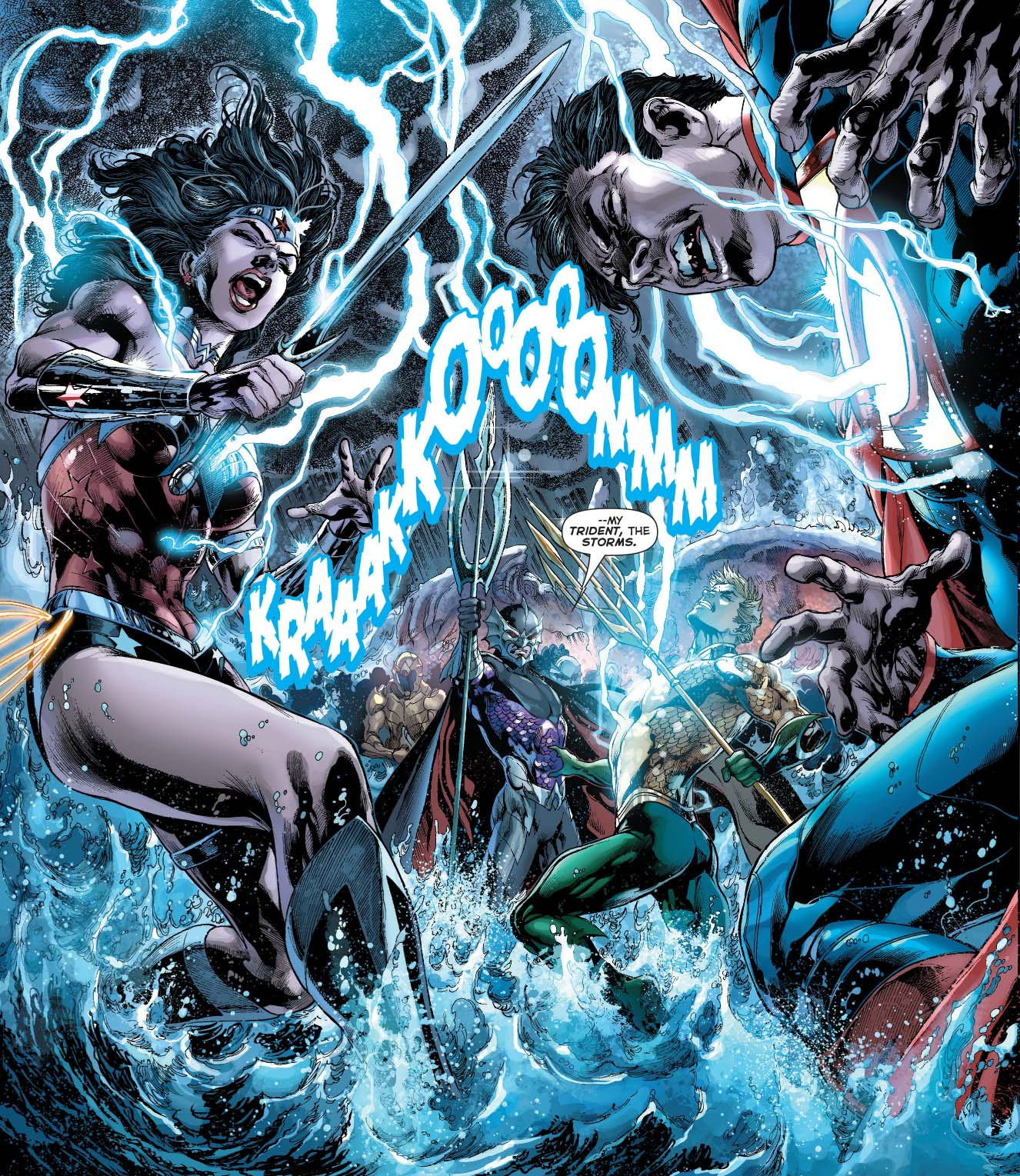 superman and wonder woman vs ocean master 3