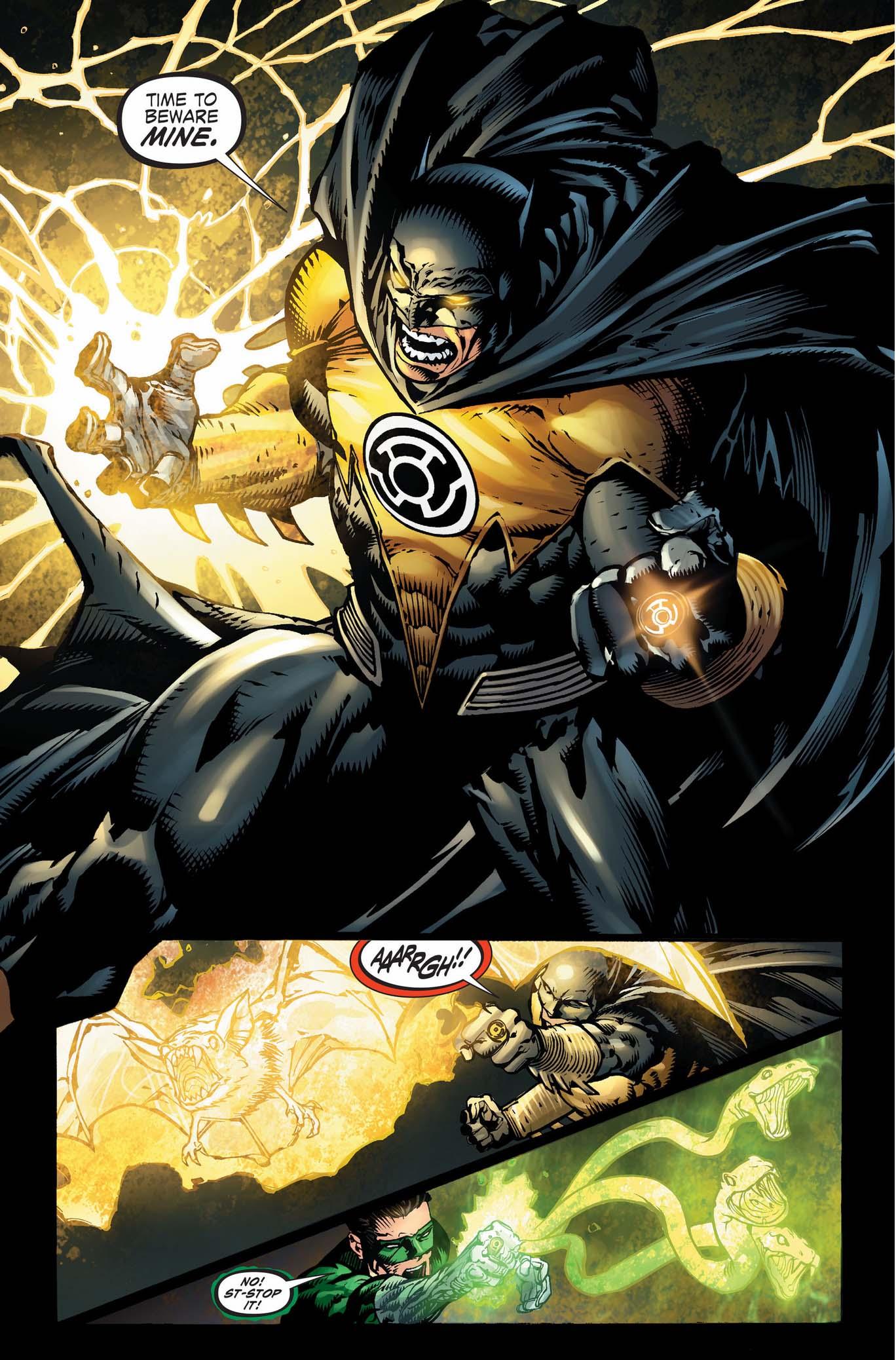 batman with sinestro ring