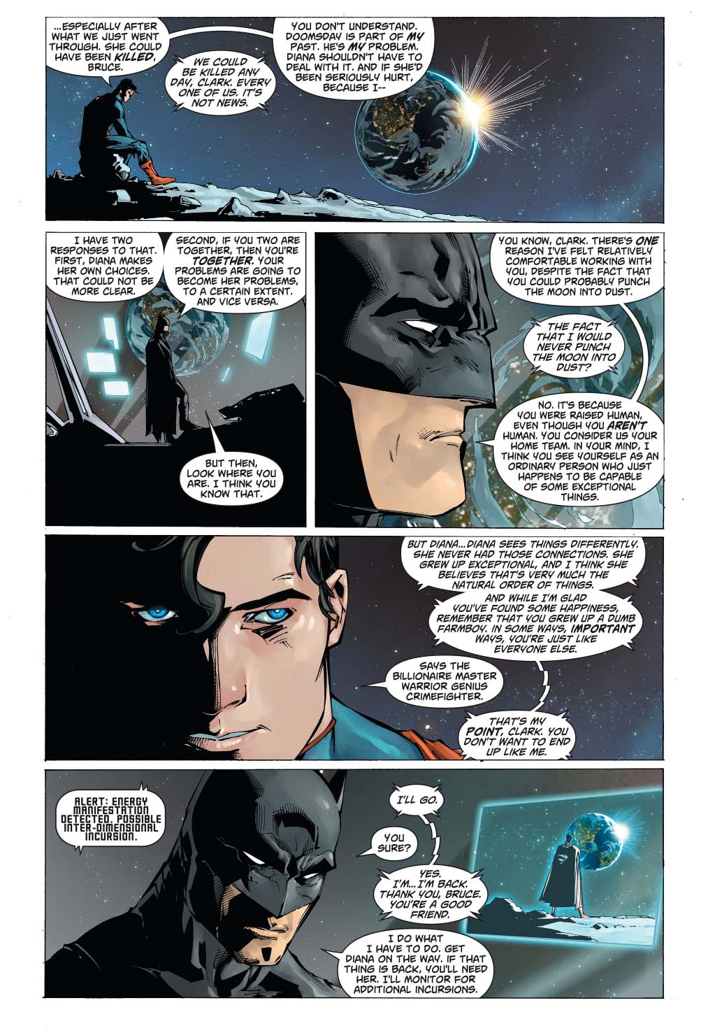 why batman is comfortable working with superman
