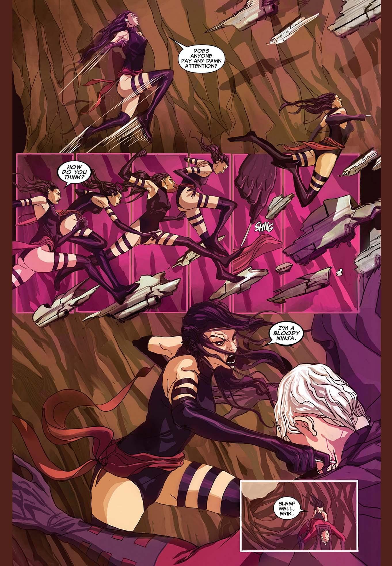 psylocke takes out magneto 2