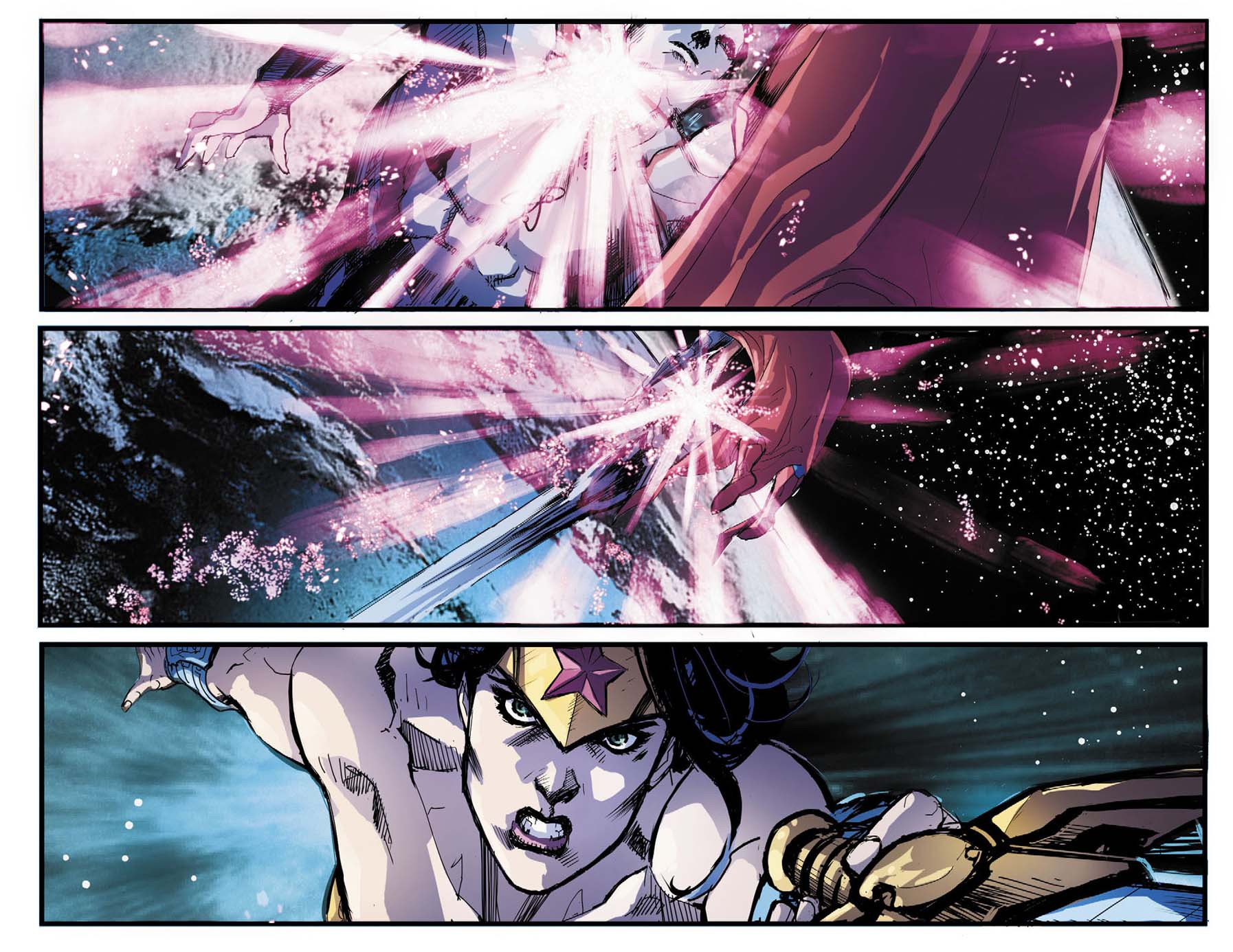 captain atom takes out superman and wonder woman 2