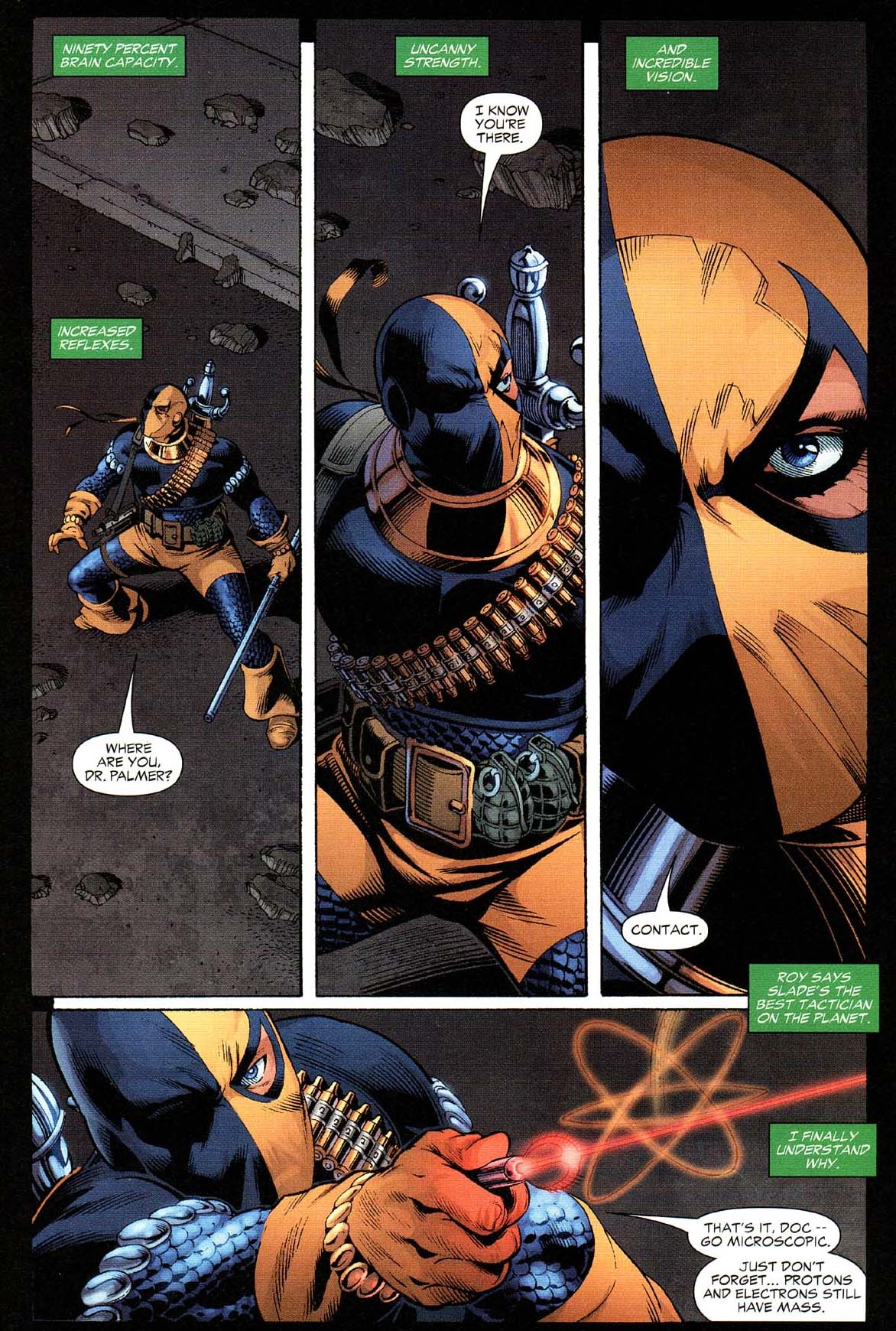 Deathstroke takes down hawkman and the atom 2