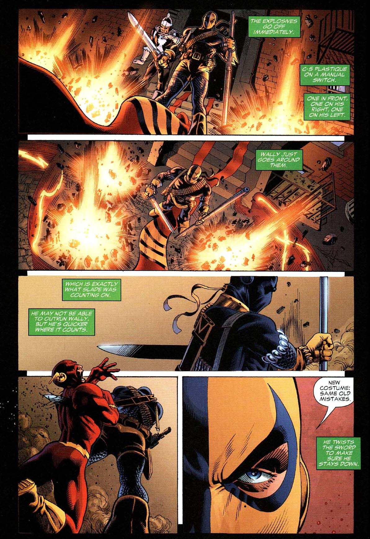 Deathstroke takes down the flash 2