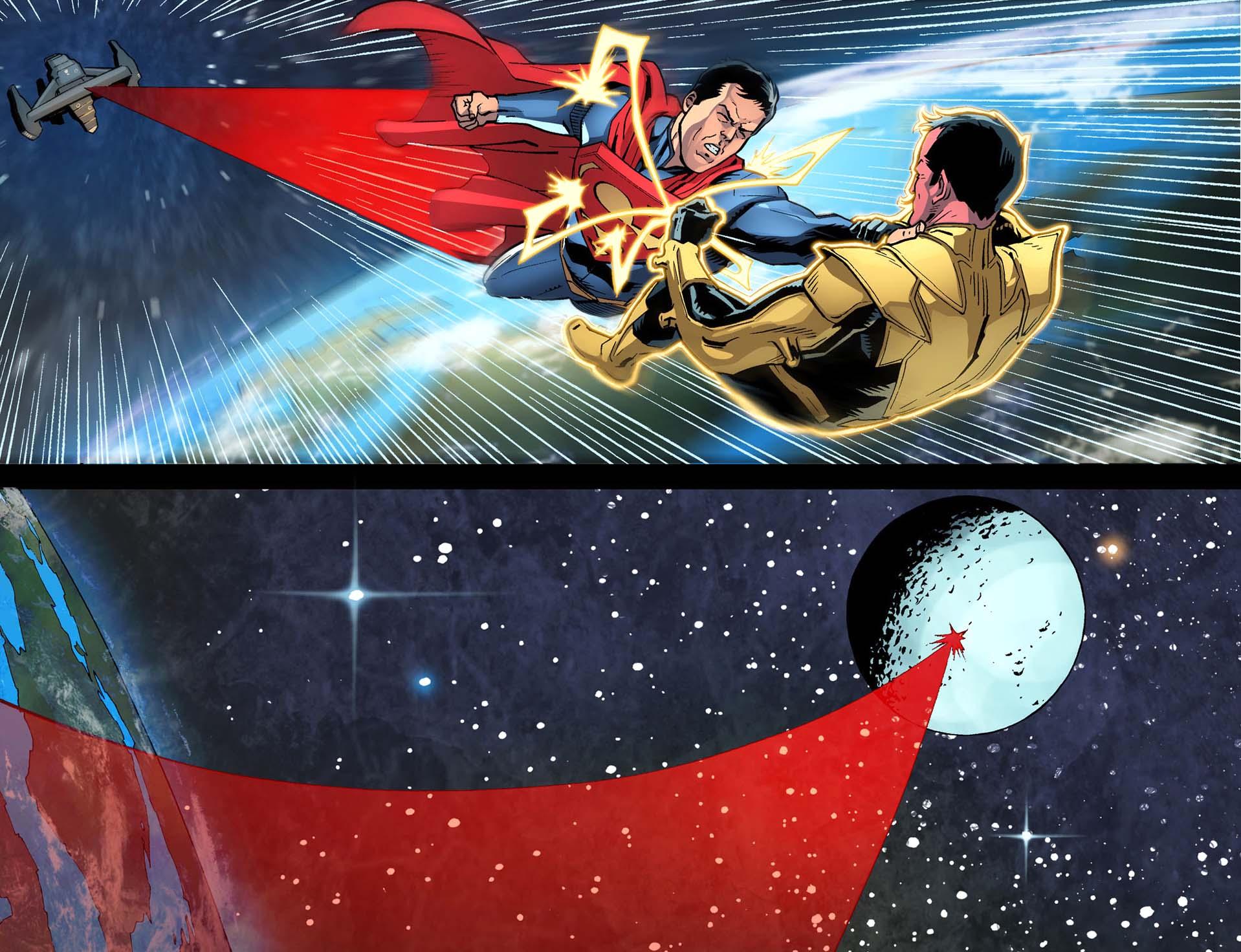 superman attacks sinestro 2