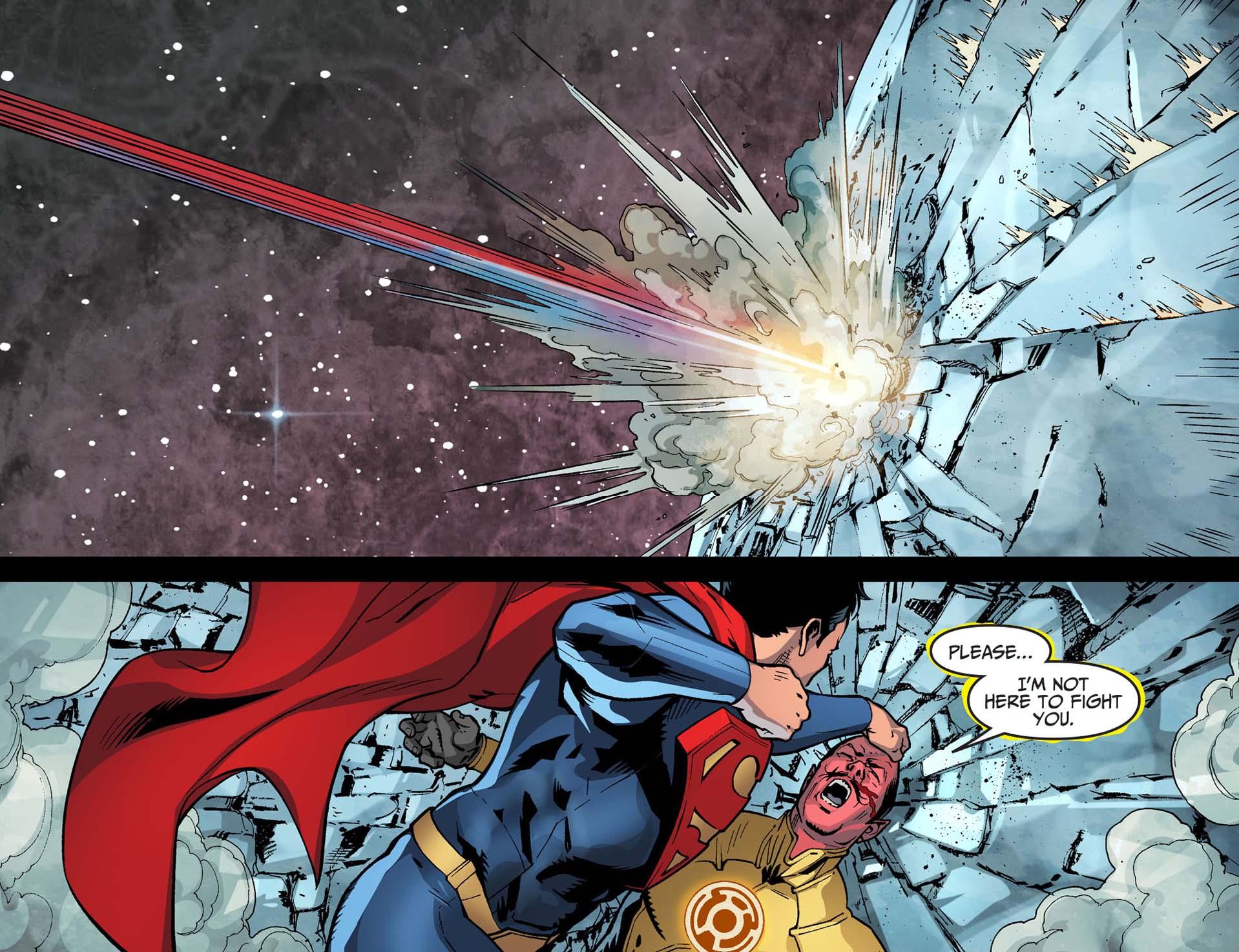 superman attacks sinestro 3