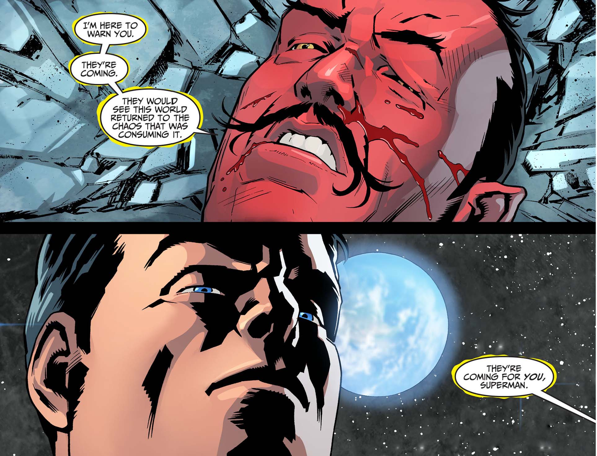 superman attacks sinestro 4