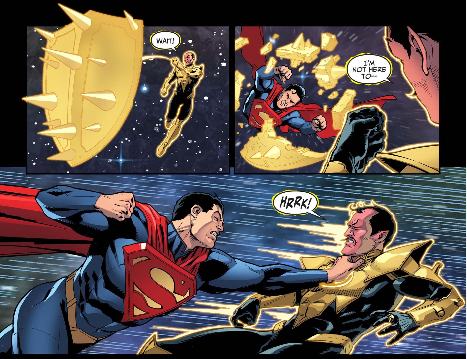 superman attacks sinestro