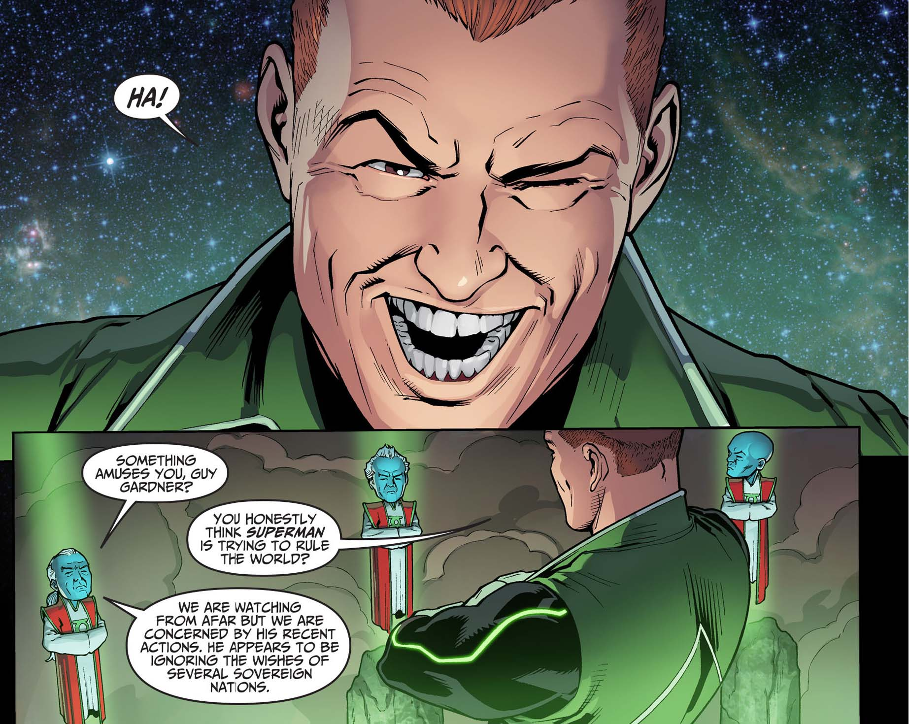 what guy gardner thinks of superman