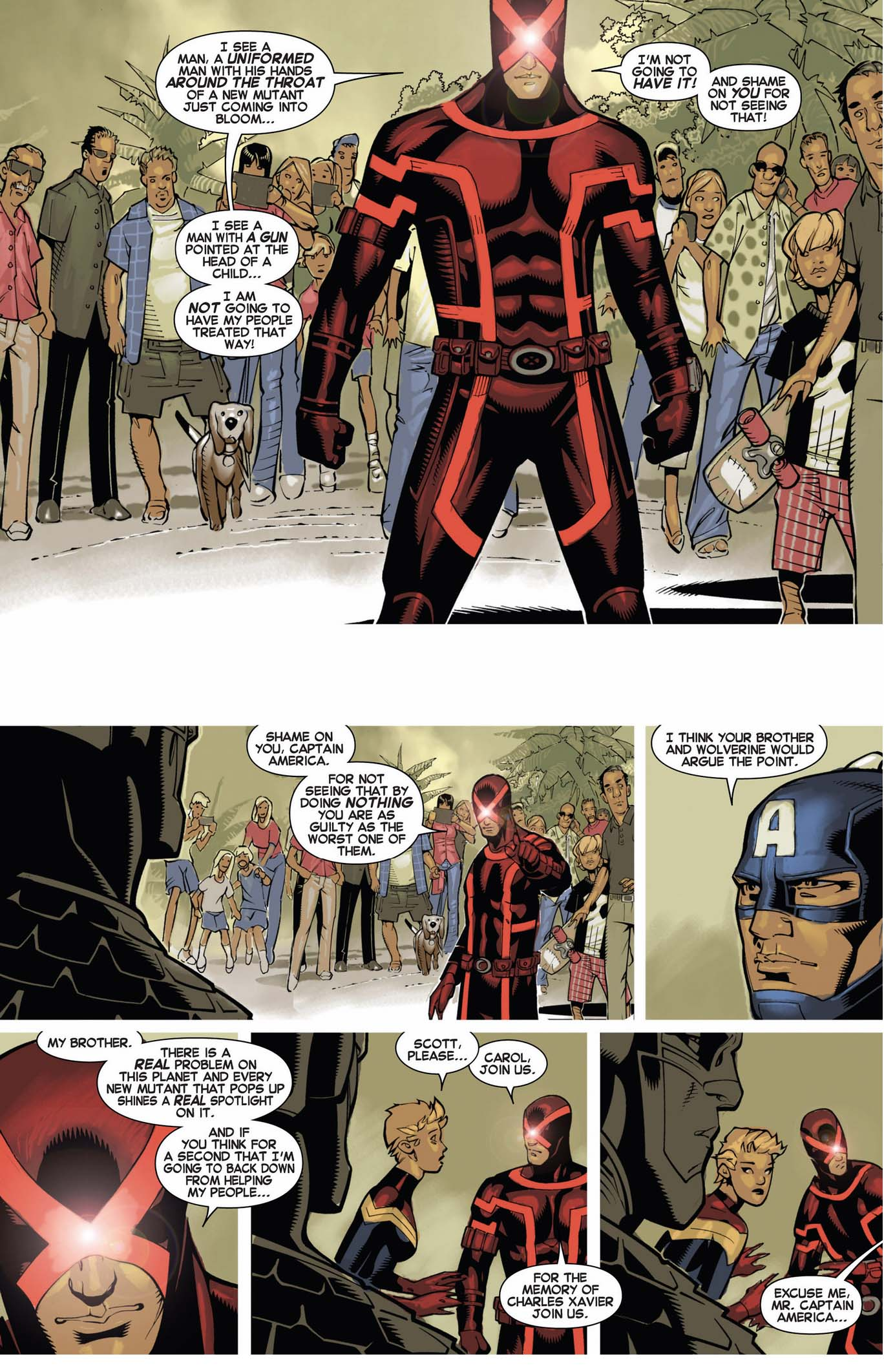 cyclops educating captain america on mutant rights 2