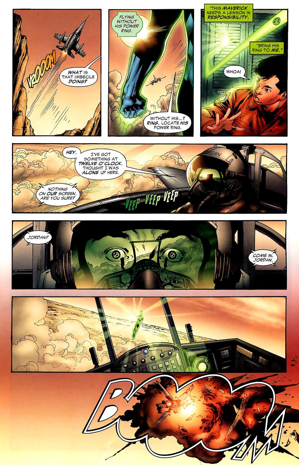 Hal Jordan Meets Sinestro (Secret Origins)