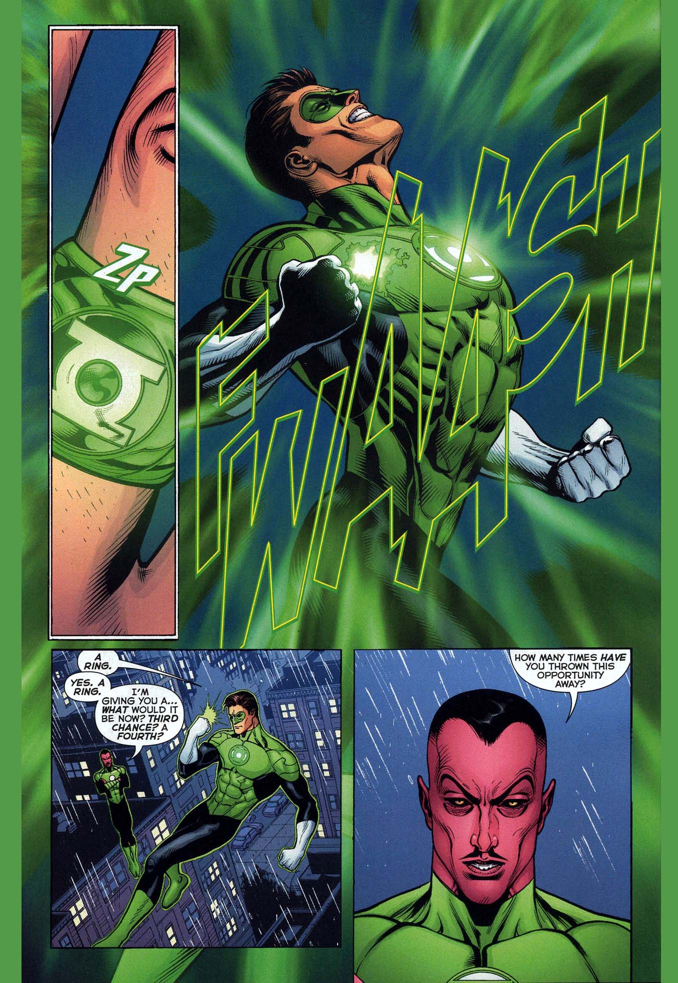 sinestro constructs a green lantern ring 2