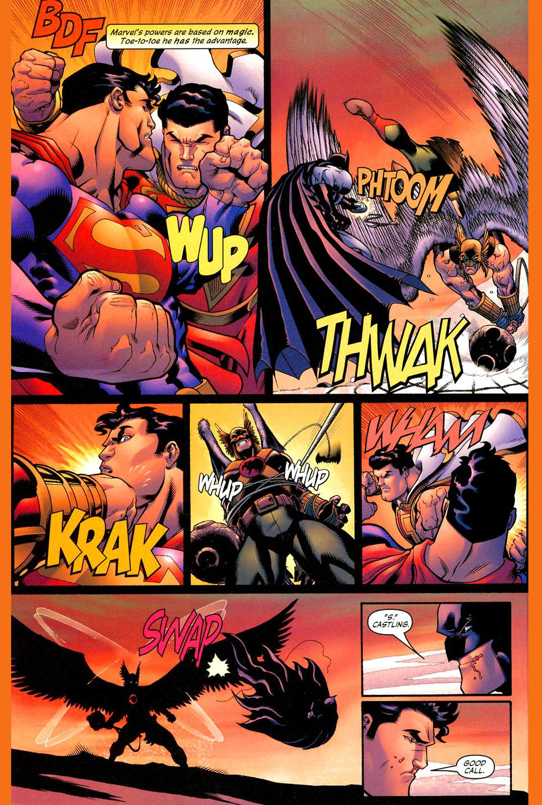 superman and batman vs hawkman and captain marvel