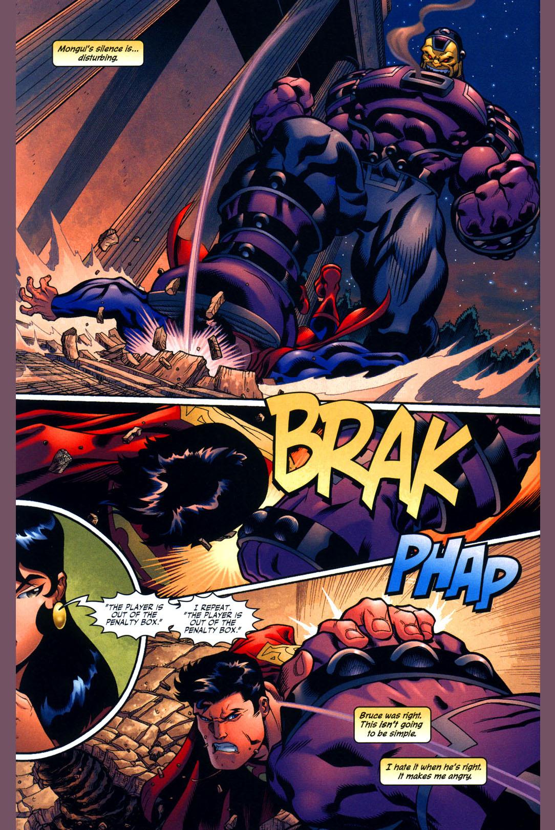 superman vs mind-controlled mongul