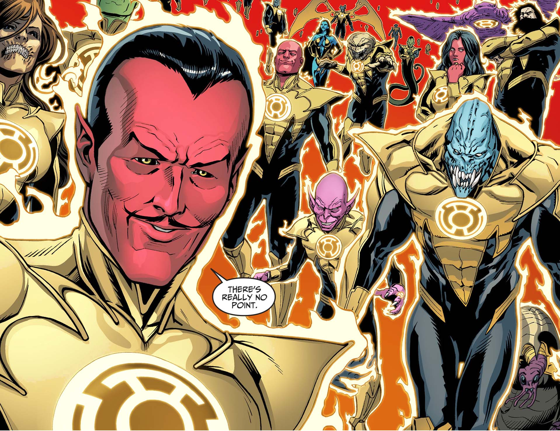 the sinestro corps sides with superman 2