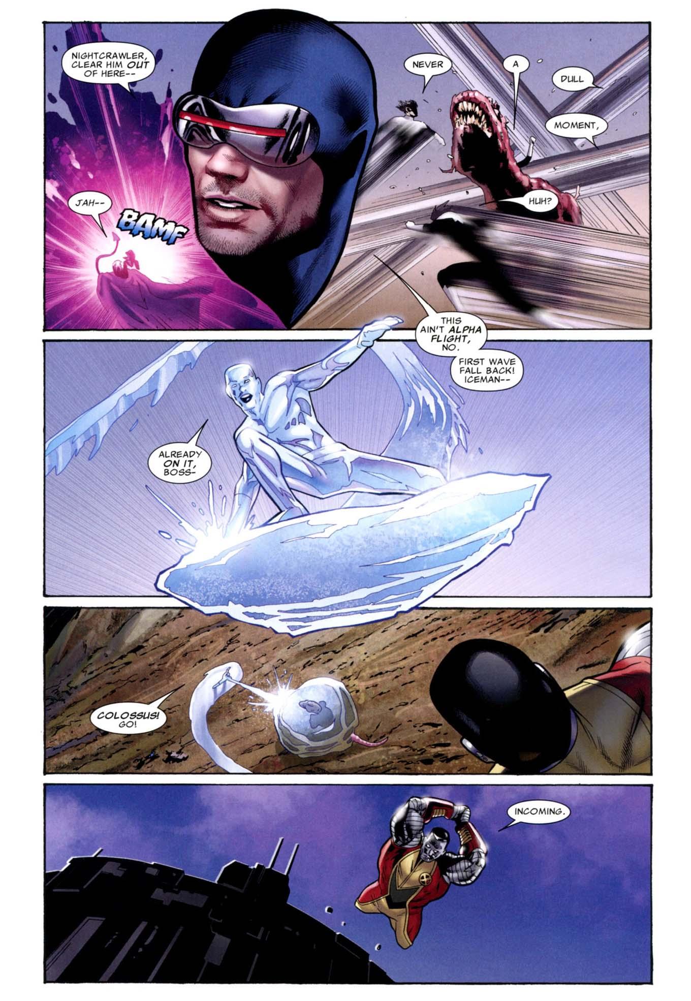 x-men takes down a predator x 2