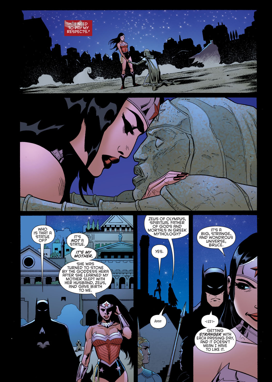 batman learns of wonder woman's origins