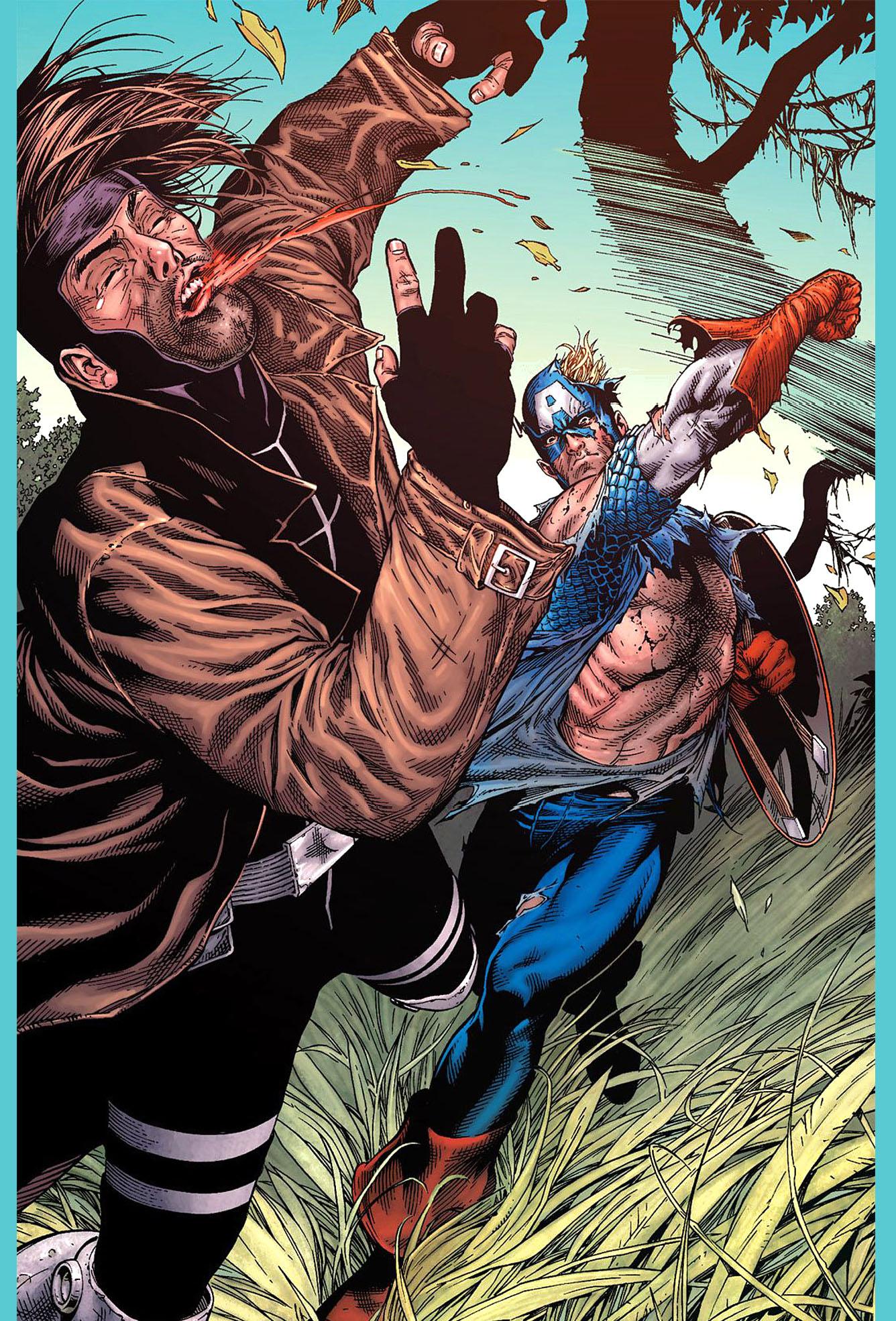 captain america vs gambit 4