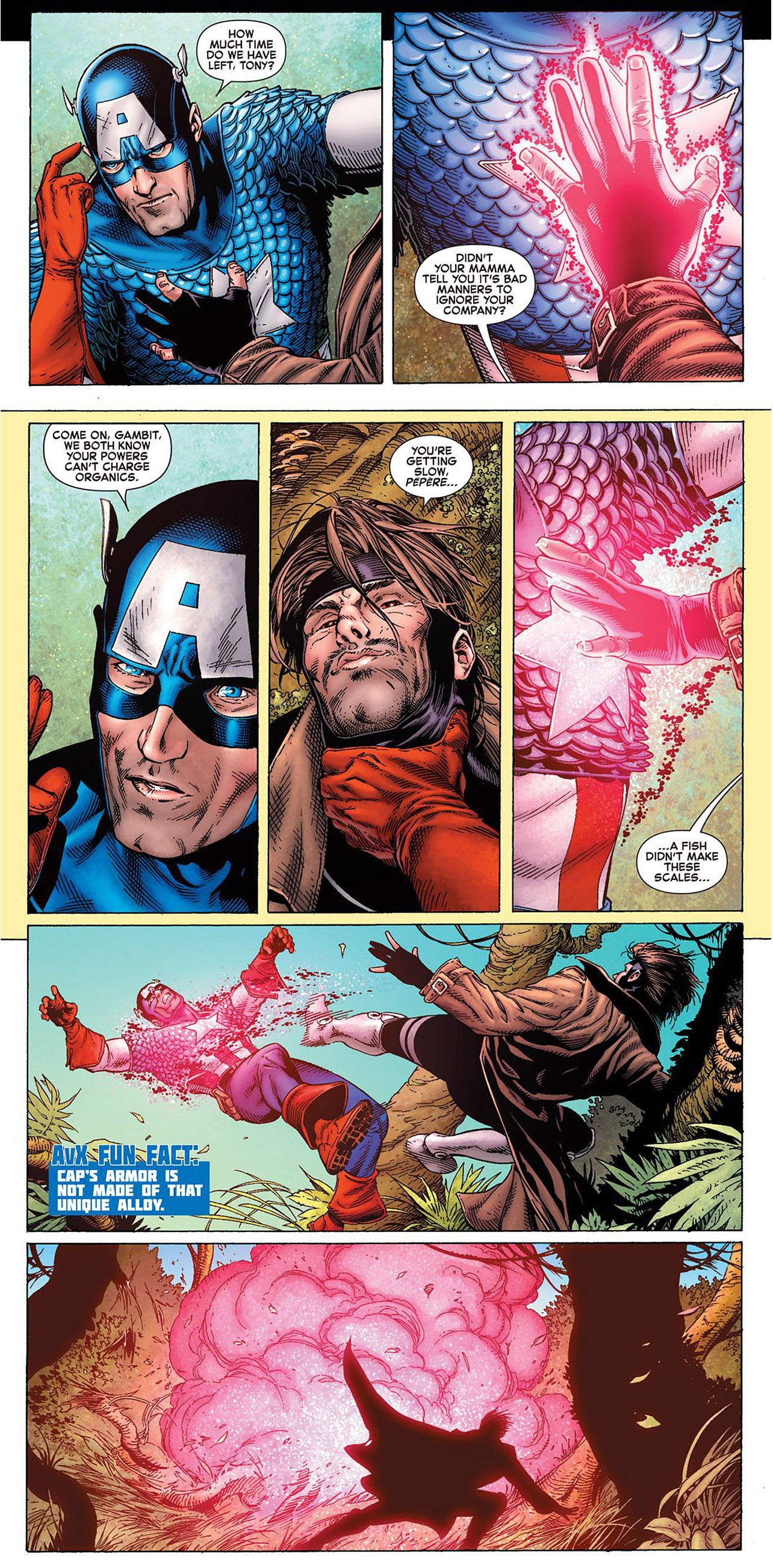 captain america vs gambit