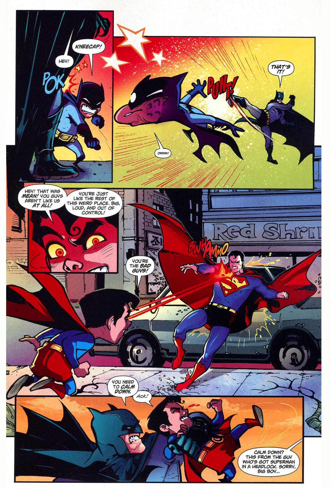 superman and batman vs mini justice league