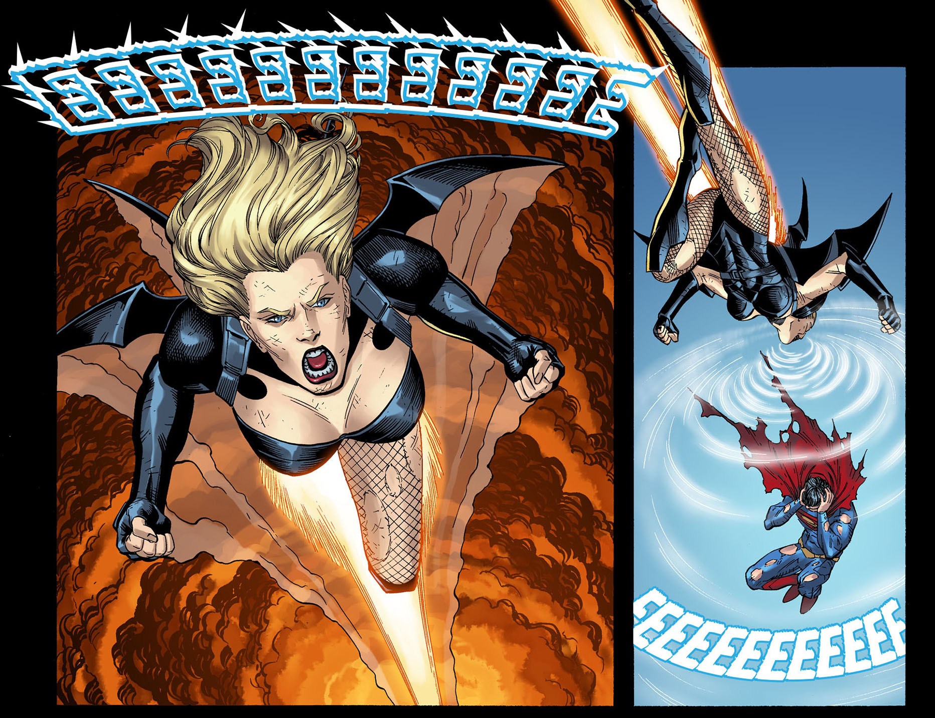 black canary on the batwing 5