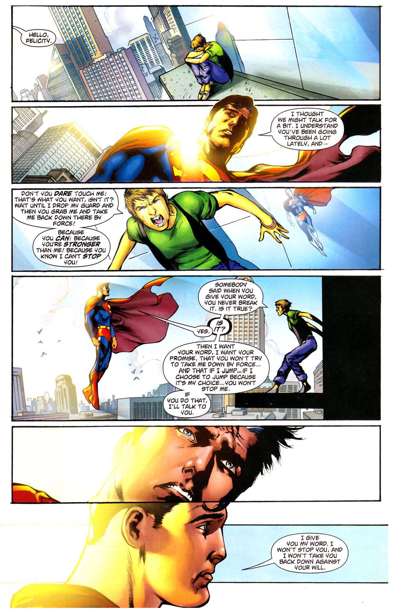 superman's opinion on suicide 1