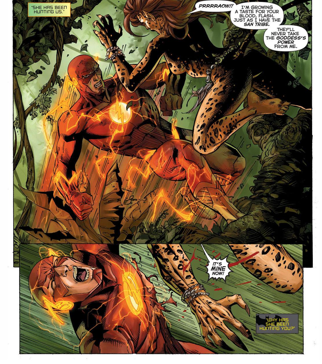 the flash, wonder woman and aquaman vs the cheetah 1
