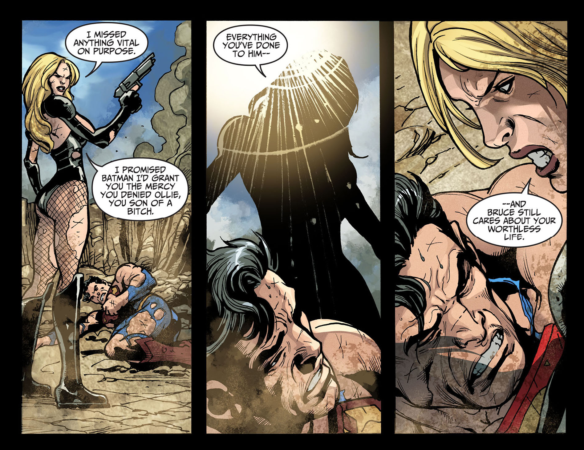 black canary takes down superman 5
