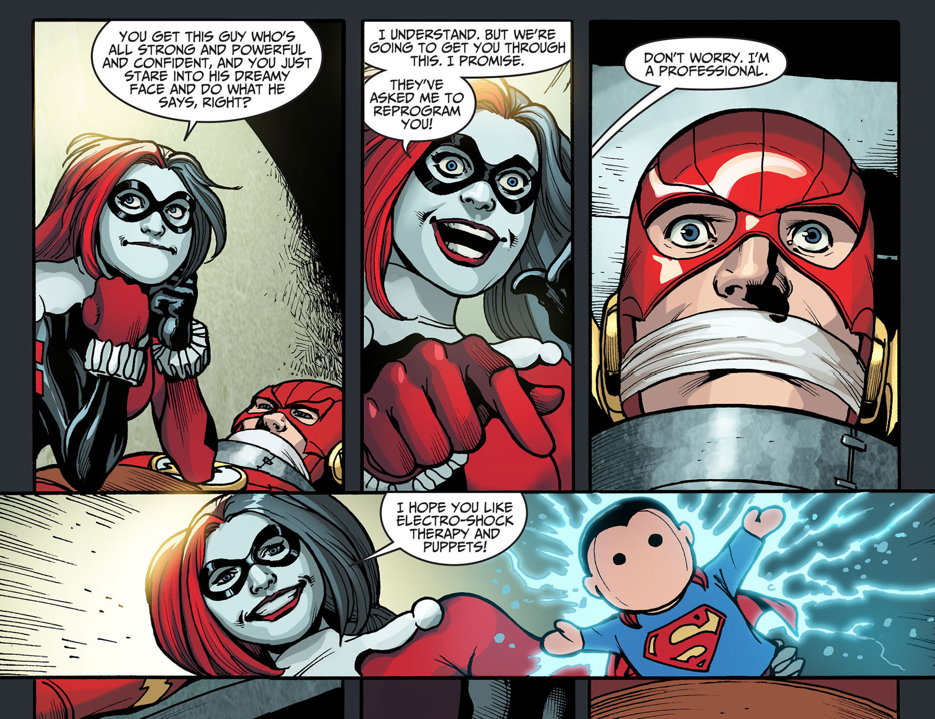harley quinn tortures the flash 2