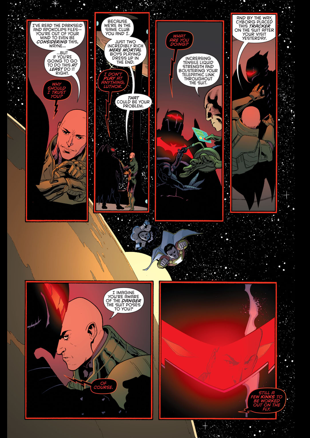 luthor helps with the hellbat 2