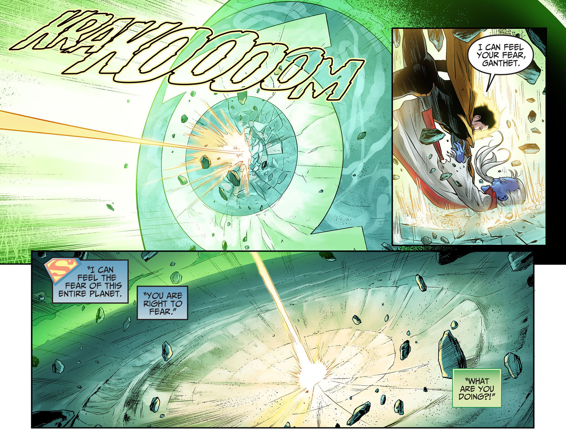 superman kills mogo and ganthet 1