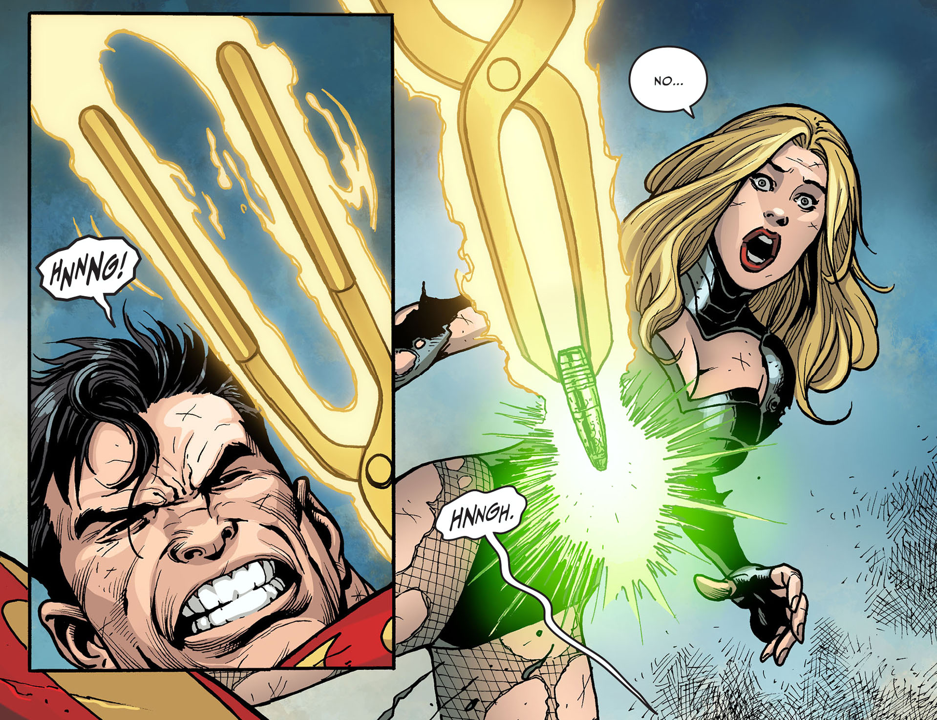 superman with a sinestro corps ring 3