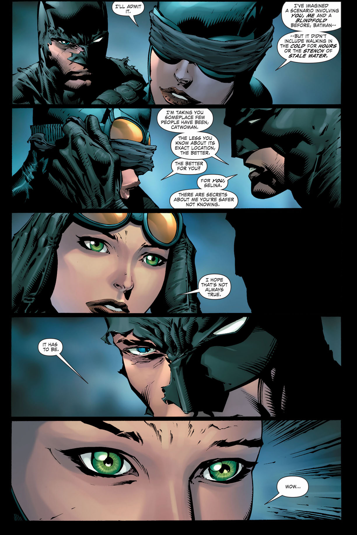 batman brings catwoman to the batcave 1