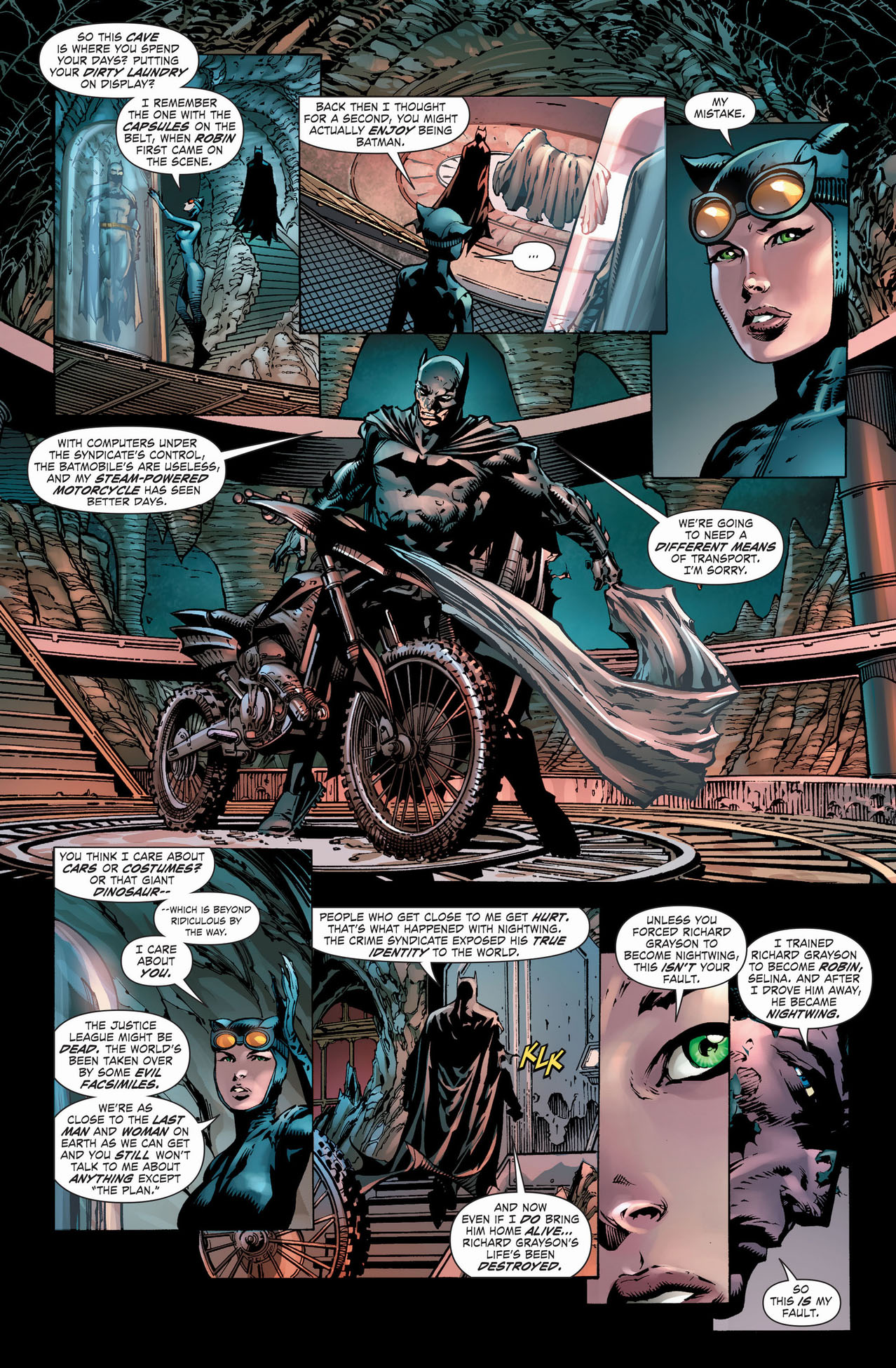 batman brings catwoman to the batcave 3