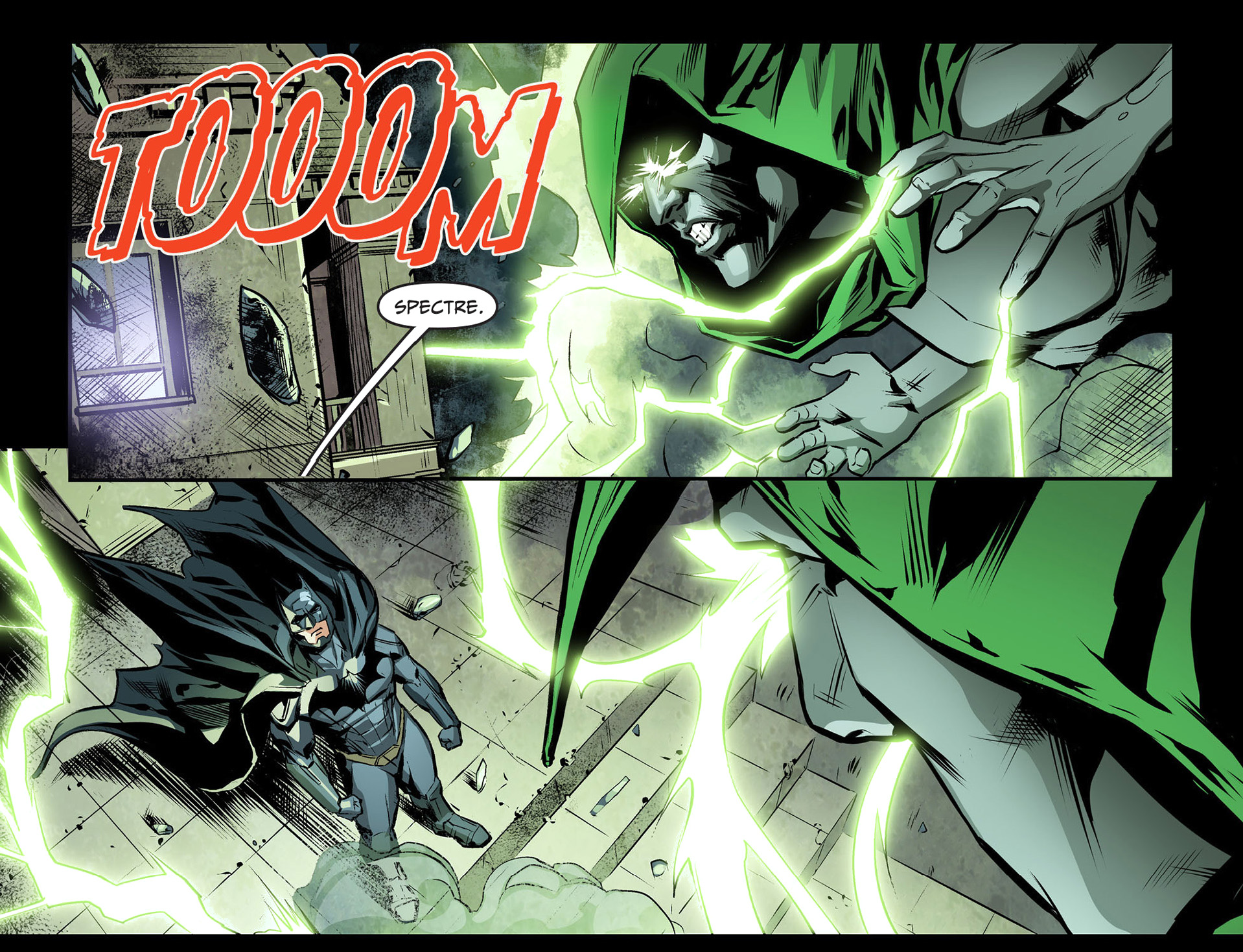 batman faces off with the spectre