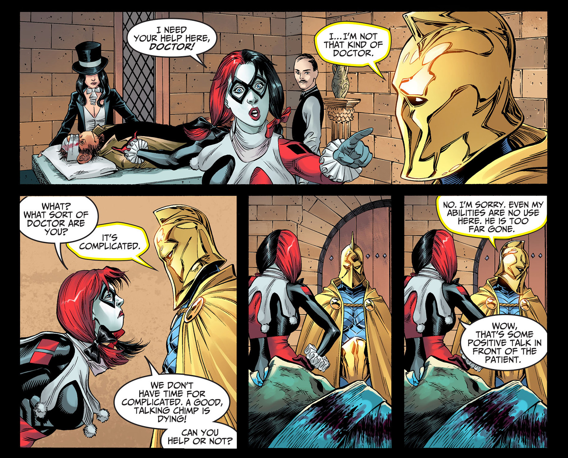 harley quinn scolds doctor fate 4